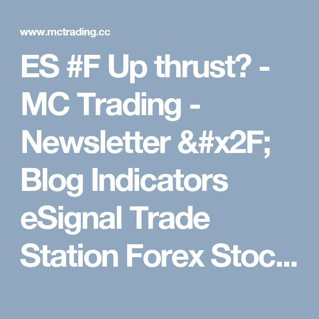 ES #F Up thrust? - MC Trading - Newsletter / Blog Indicators eSignal Trade Station Forex Stock Market Commodities Futures