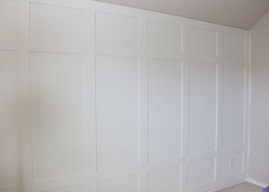 How To: The Paneled Wall | Decorchick! Changing her world, one project at a time $40 wall