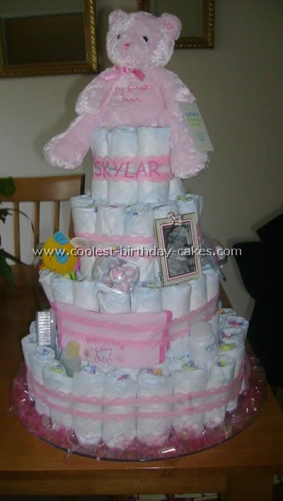Coolest Diaper Cake Instructions And Photos. Cakes For Baby ShowersBaby ...