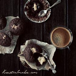 Muffinki czekoladowe z serkiem mascarpone