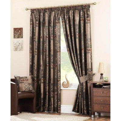 Winchester Ready Made Curtains Chocolate  Was: £38.99