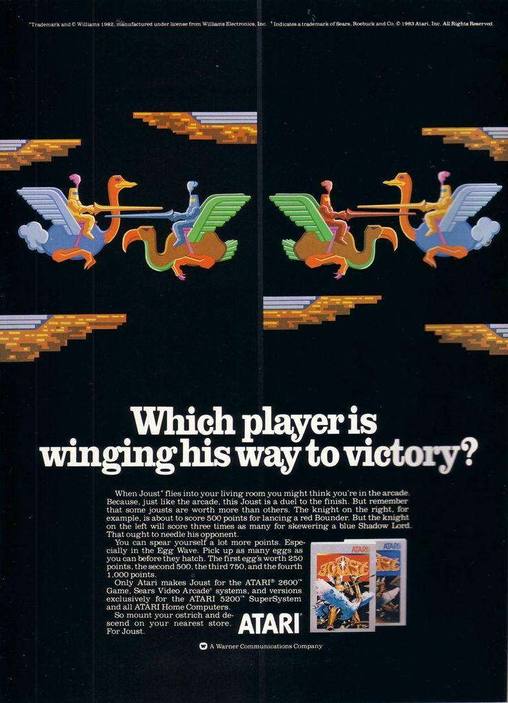 JOUST for the Atari 2600/5200 (1984) #atari2600 #atari5200 #RETROGAMING 