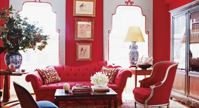 Warm up your decor with red walls.