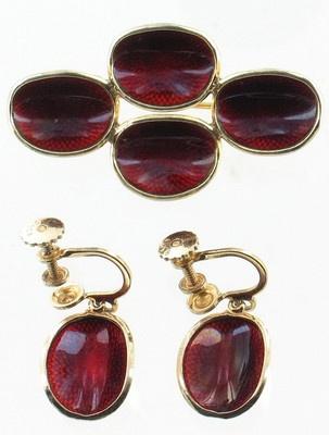 Vintage Sterling Ivar Holth Norway Norwegian Guilloche Enamel Pin Earrings Set | eBay