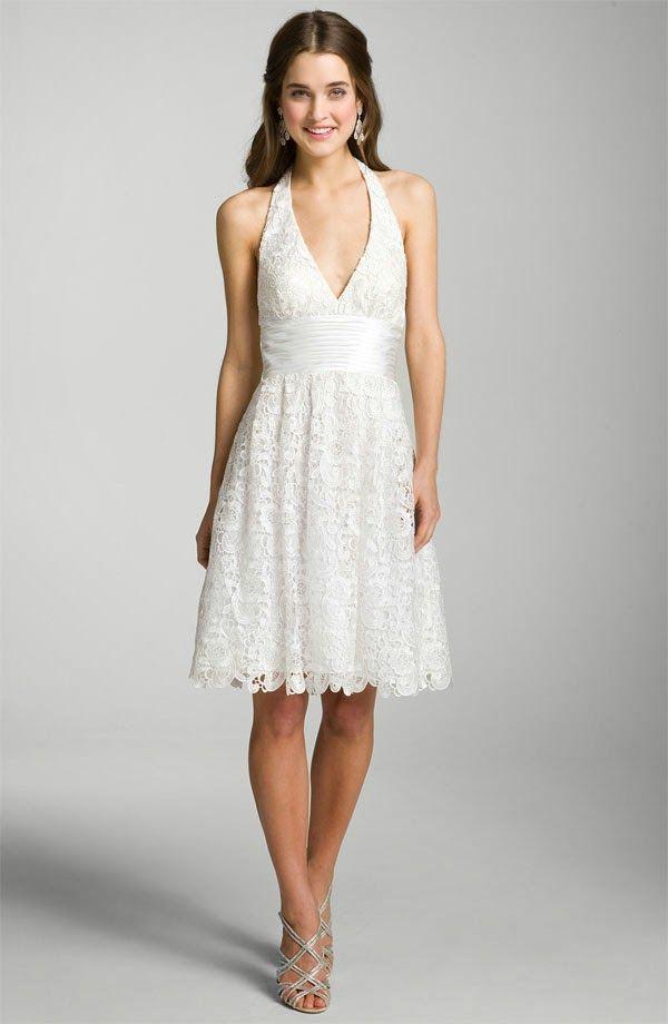 Short white wedding dresses http simpleweddingstuff for All white wedding dress