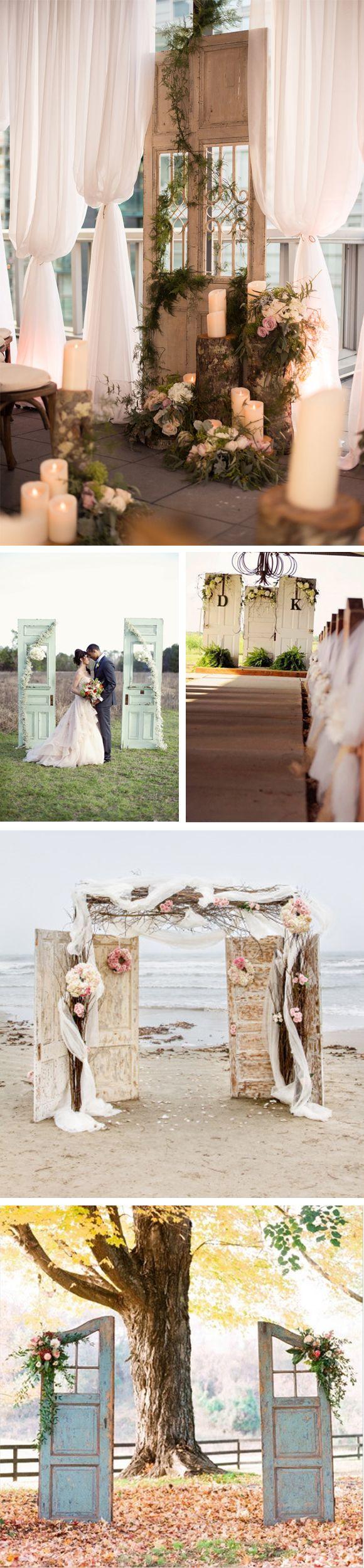 Decora el altar de tu boda con puertas antiguas