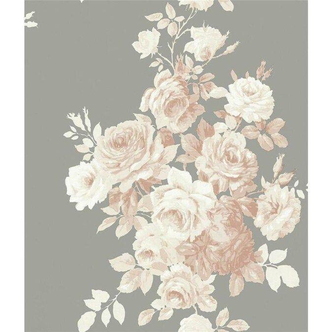 York Wallcoverings Magnolia Home Vol Ii 56 Sq Ft Blush Grey Paper Floral Prepasted Soak And Hang Wallpaper Lowes Com In 2020 Magnolia Homes Joanna Gaines Wallpaper Magnolia Wallpaper