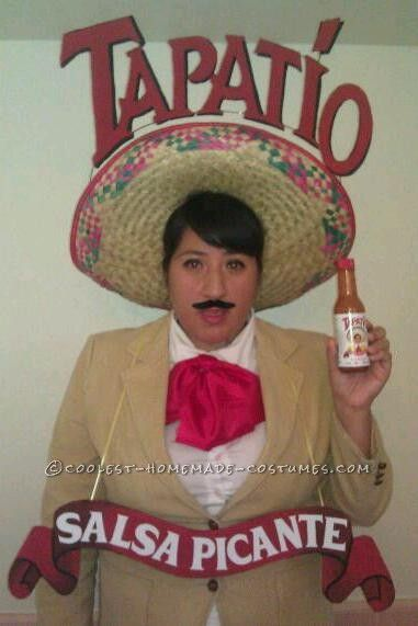 spicy homemade costume idea super hot sauce man from tapatio - Homemade Men Halloween Costumes