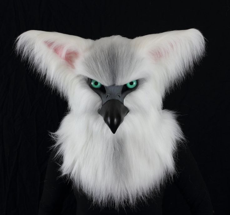 White Gryphon Fursuit head realistic mask, articulated jaw, silicone tongue realistic eyes and jawset furry furries costume VOODOO DELICIOUS by VoodooDelicious on Etsy