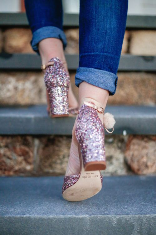 ad3c74100a7c SPARKLY STATEMENT SHOES | outfits we love | Sparkly shoes, Shoes, Sparkle  shoes