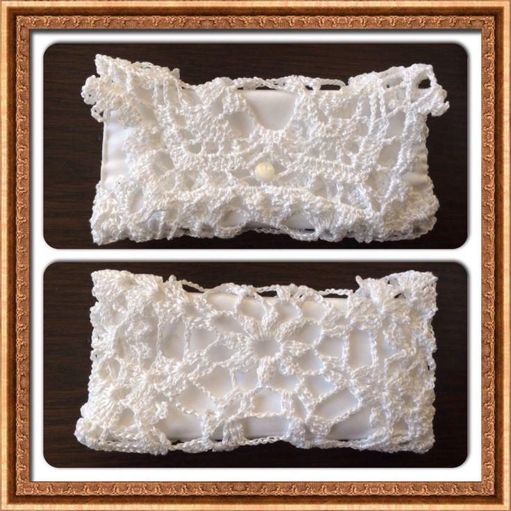 Little crocheted purse.