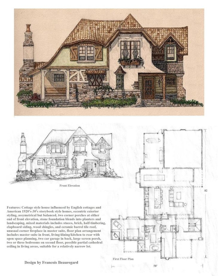 German Half Timbered House Plans