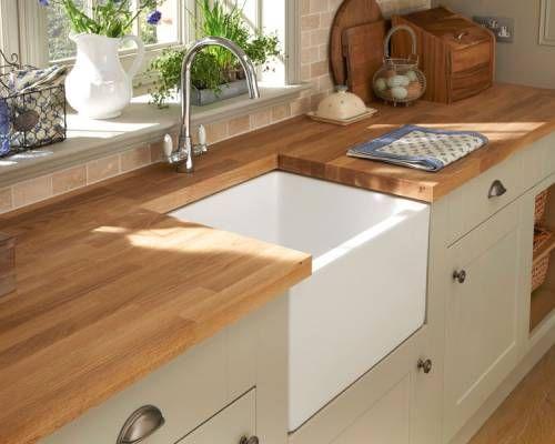 White Belfast Sink and Lamona Chrome Victorian Swan Neck Monobloc Tap