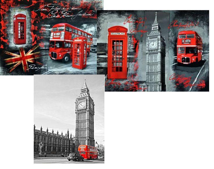 Obrazy so symbolikou a farebnými tónmi v štýle anglickej vlajky sú spoľahlivými sprievodcami svetom londýnskeho štýlu interiérového dizajnu - SCONTO NÁBYTOK