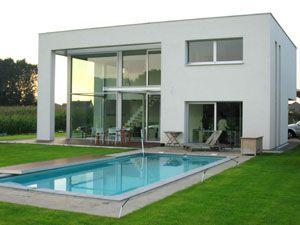 Moderne woning nieuwbouw kubus architect kris van buynder nieuwbouw modern - Huis modern kubus ...
