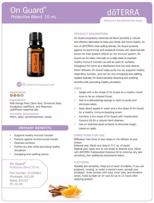 On Guard essential oil uses. This is an amazing immune booster. Sign up for wholesale and you get 25% off all products!!! https://www.mydoterra.com/jordanboring