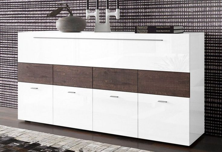 LC Sideboard, Breite 161 cm ab 299,99€. 4 Türen, 1 Klappe, FSC®-zertifizierter Holzwerkstoff, Italian Design, Metallgriffe bei OTTO
