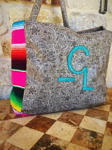 Livestock brand serape bag