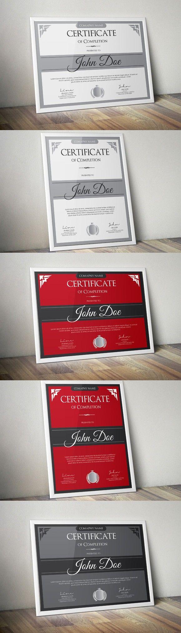 7 besten certificates Bilder auf Pinterest | Zertifikatvorlagen ...