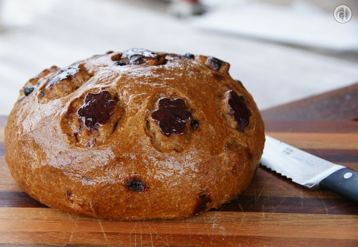 I had some fun making this gluten free no added sugar Fruity Sourdough cob look like a Dalek.