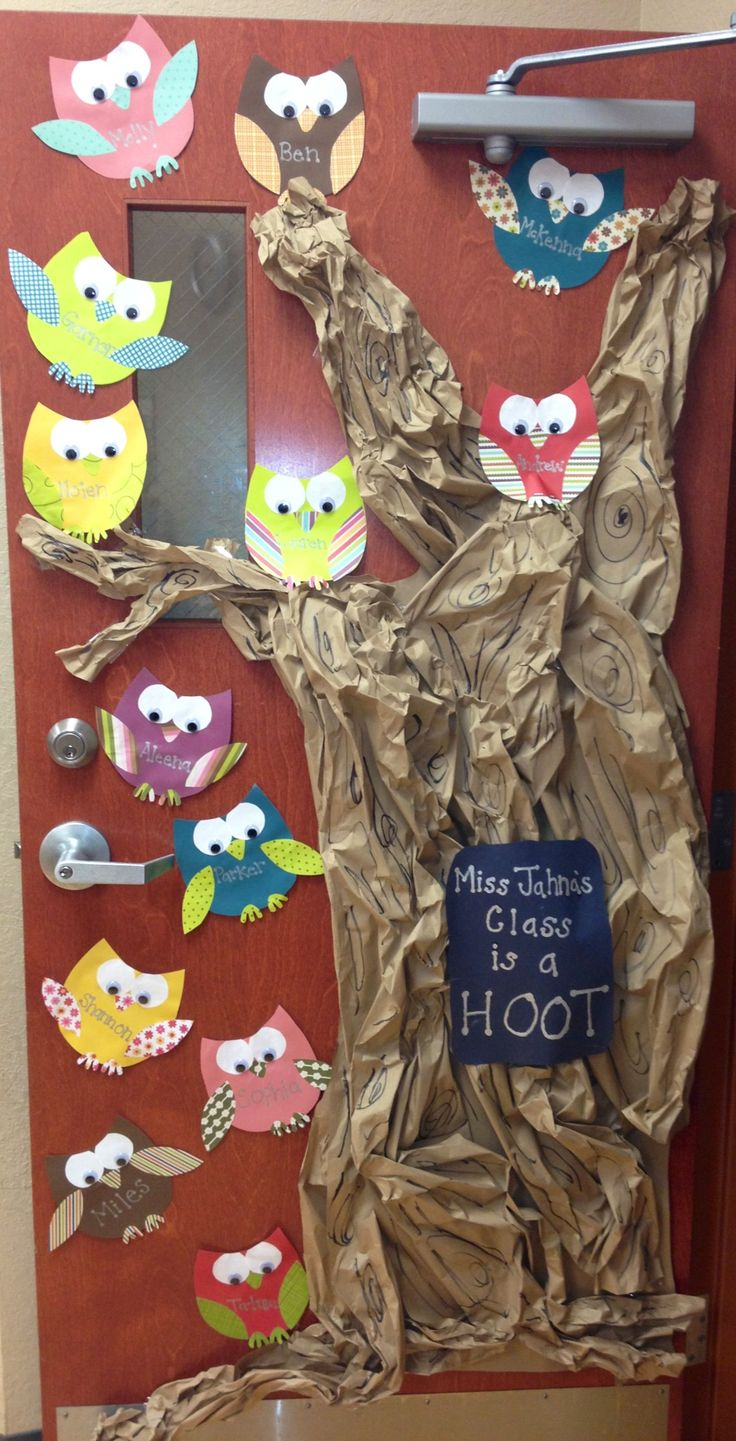Owl classroom door…I'd put this on a wall