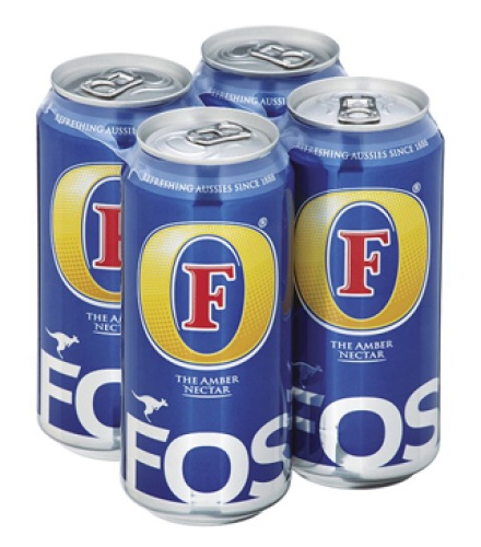 Fosters Beer (4x500ml)  Online supermarket and Home delivery  www.homesweethomefoodandwine.co.uk