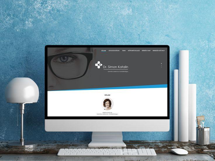 Optician webpage UI design
