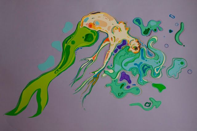 CannonCat - Karolina Falkiewicz art: Śnięta ryba Papercut dead fish #mermaid #dead #fish