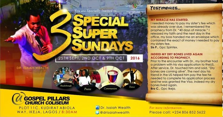 The THREE SUNDAYS that will change your life forever! Get Ready For #Miracles... #3specialsupersundays