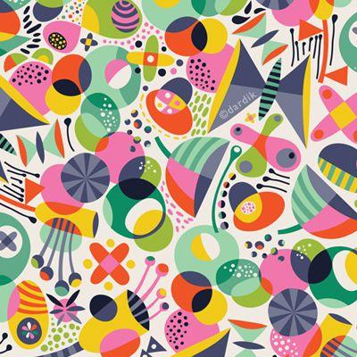 Orange you lucky! Fun pattern design by Helen Dardik.