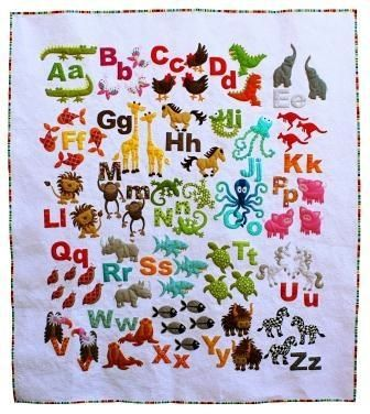 "Finiahed Size: 52"" x 59"" (132cm x 150cm) What better way to help the little person in your life to learn their ABC than with their very own alphabe..."