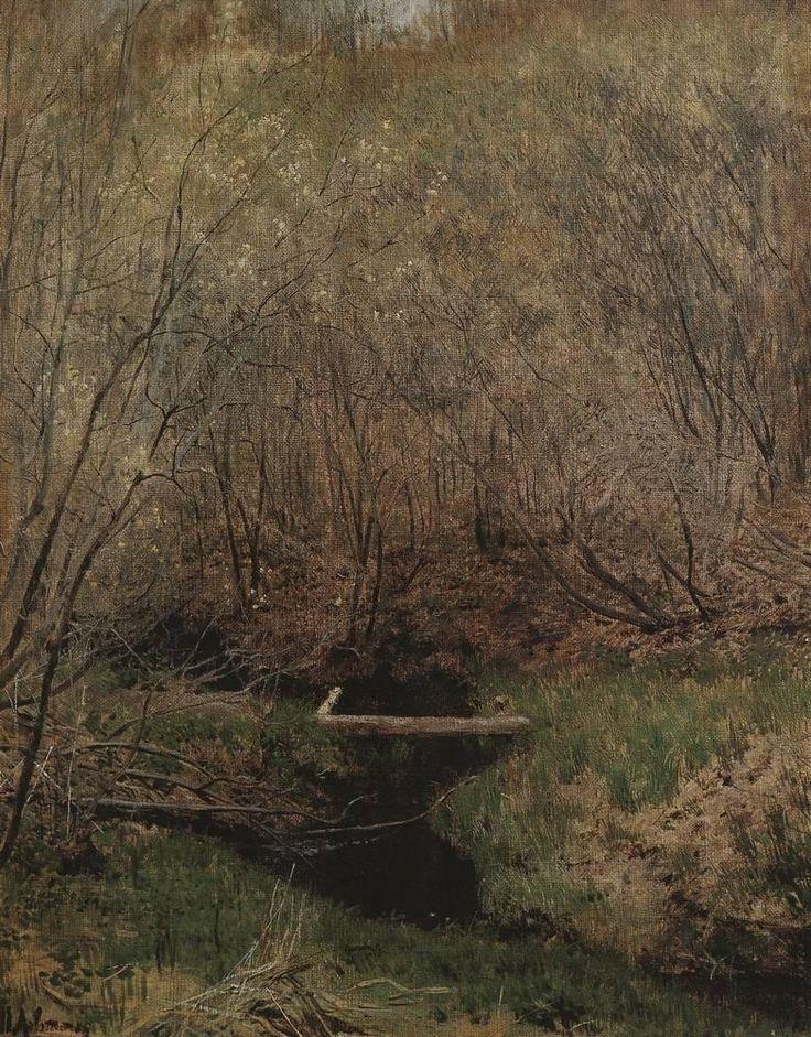 Spring in the Forest via Isaac Levitan Medium: oil, canvas