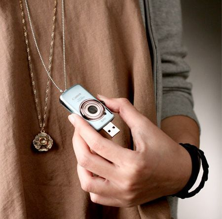 Cute Mini Canon Camera USB Flash Drive