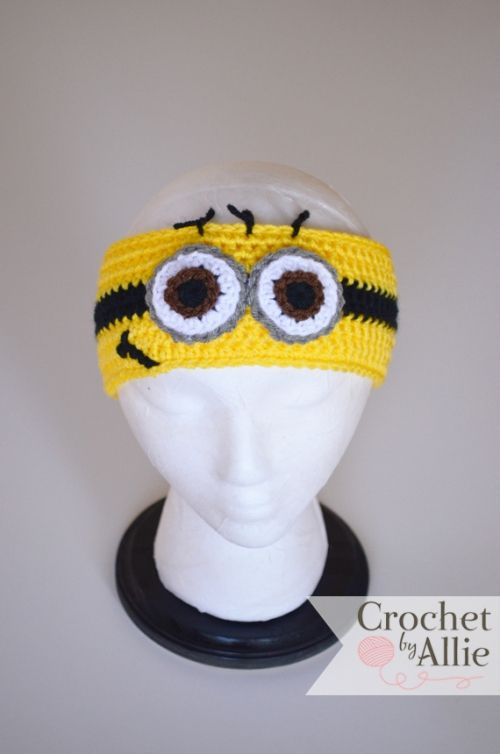 Yellow Minion Headband | Crochet By Allie