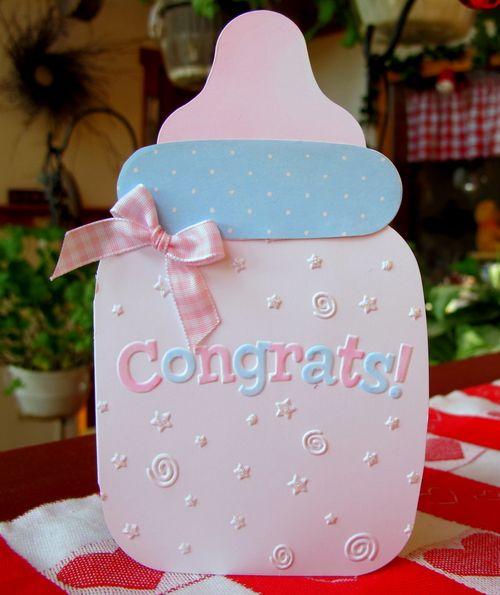 Cute baby congrats card from heartprints