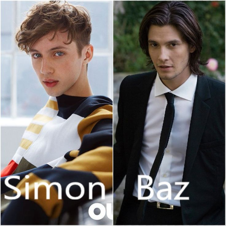 Imagine...Carry on movie. Troye Sivan as Simon snow and Ben Barnes as Baz
