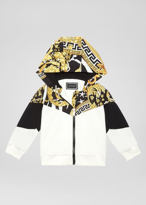 Young Versace 90s Vintage Logo Hoodie for New Born | US Online Store