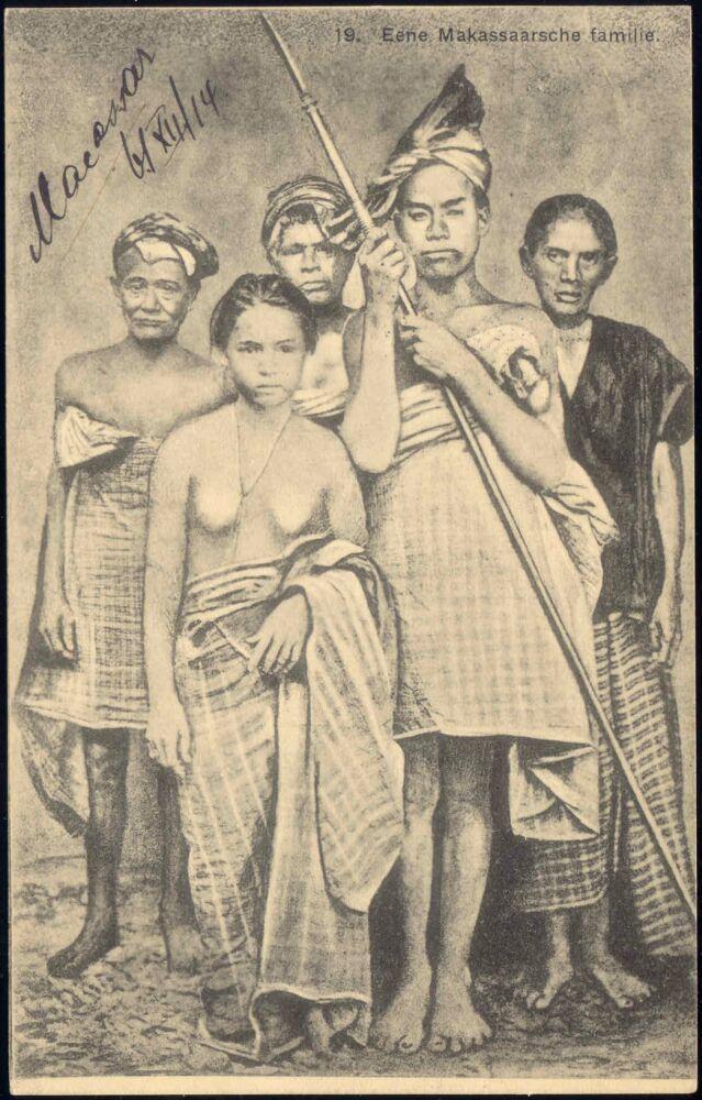 indonesia, CELEBES MAKASSAR SULAWESI, Native Family (1914) Stamp