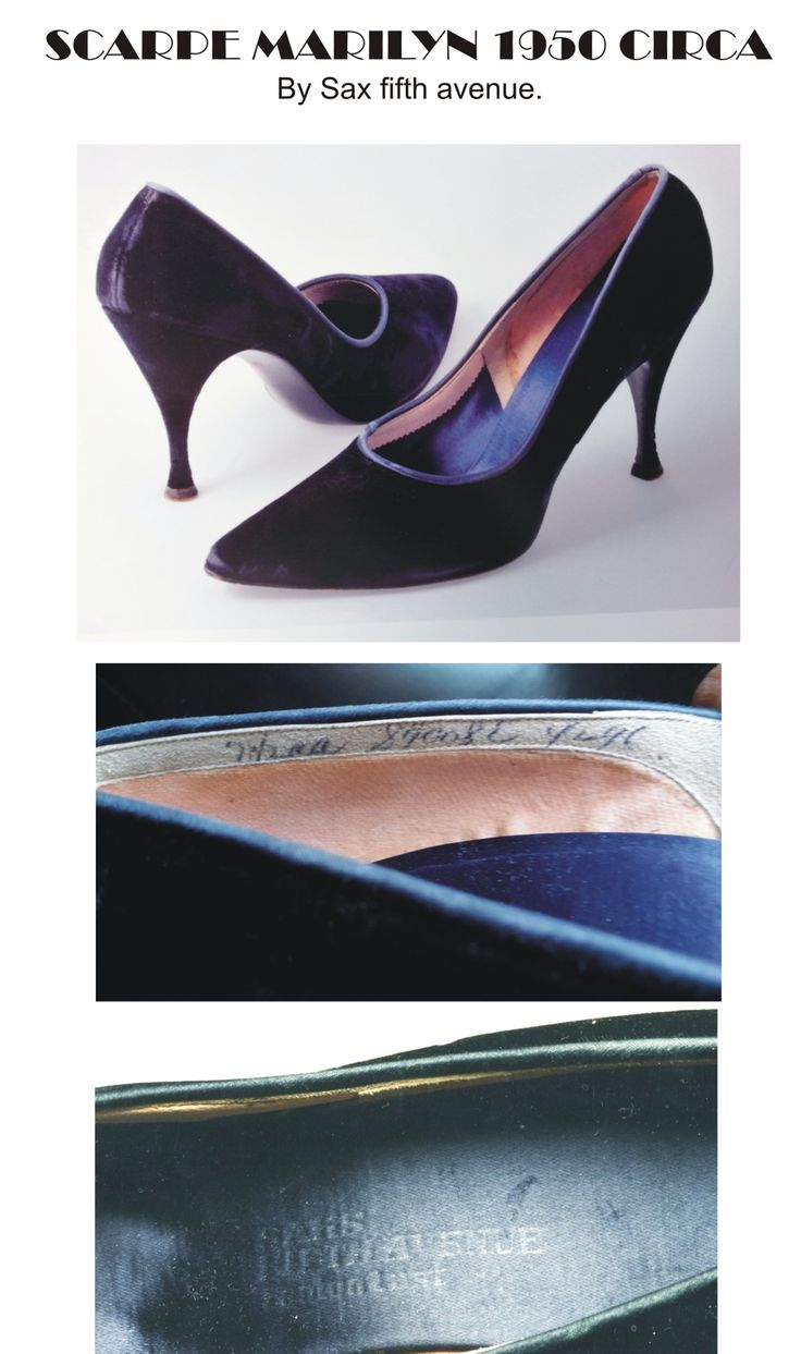 Original Marilyn Monroe shoes by Sax Fifth Avenue.