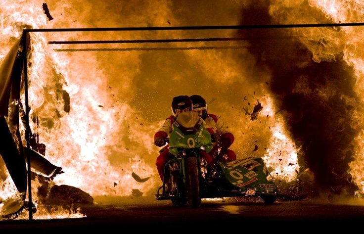Spectacular Fire Tunnel Rides At Rand Easter Show