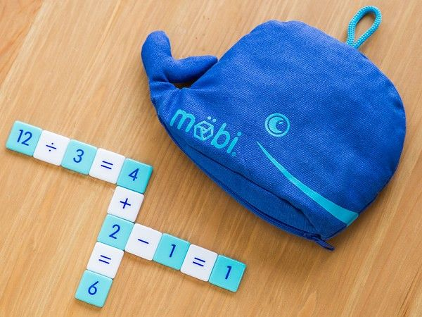 Möbi, discovered by The Grommet, is a numerical tile game where you make Math equations as quickly as possible. A fun way for kids or adults to practice Math.