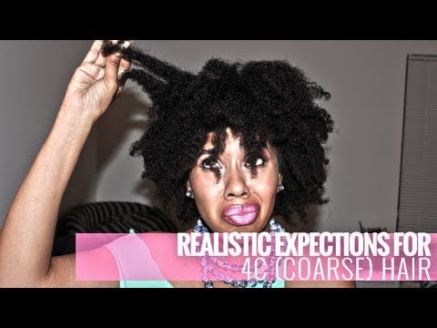 Realistic Expectations for 4C Natural Hair Okay she is like my hero. All 4C haired women NEED to watch this
