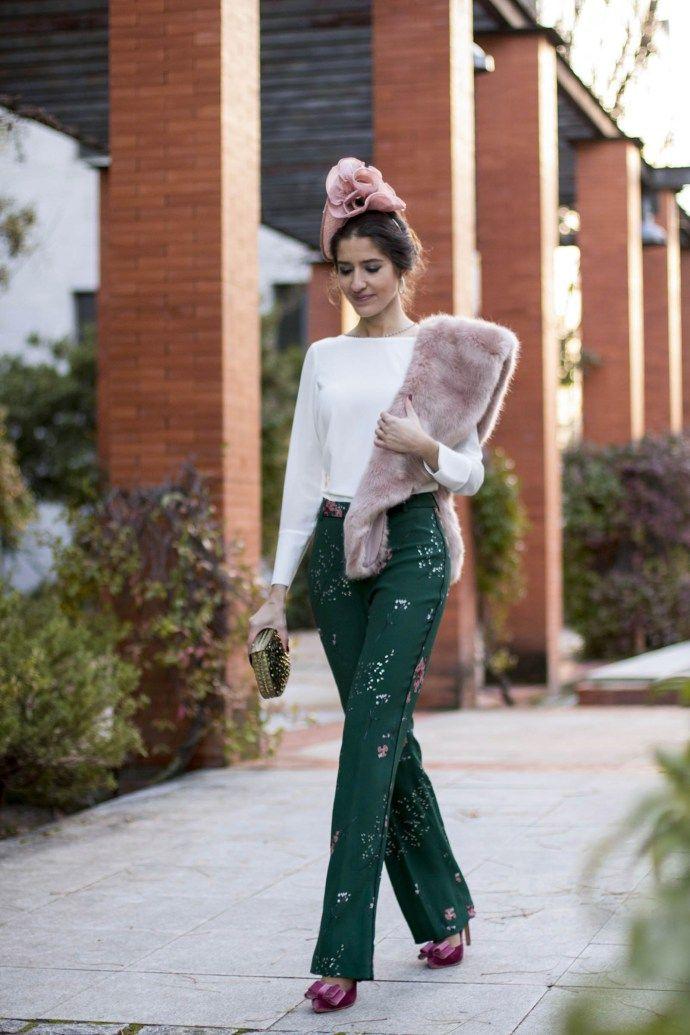 Invitada boda pantalón con blusa Biombo 13 y zapatos Salo Madrid 2