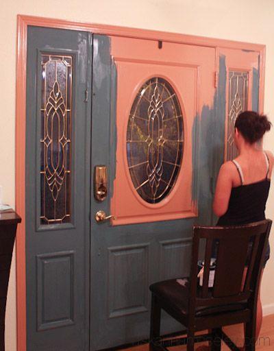 door painting on pinterest front door paint colors door paint. Black Bedroom Furniture Sets. Home Design Ideas