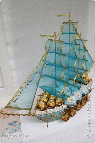 Свит-дизайн Выпускной День рождения Свадьба Моделирование конструирование Корабли и цветы Бумага гофрированная фото 3