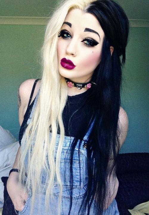 half-blonde-half-black-hairstyles