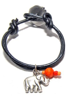 A Wrist Button from South Africa to remind you of your game adventure in Addo Elephant Park near Port Elizabeth.