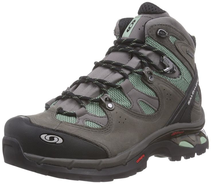 Salomon Women's Comet 3D Lady GTX Backpacking Boot, Lichen Green/Autobahn/Lichen Green, 7.5 B US. Salomon 3d chassis for stability along with flexibility for improved transition.