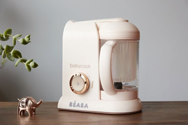 You can now steam, cook, and blend your homemade baby food in style thanks to the new Rose Gold Beaba Babycook baby food maker.