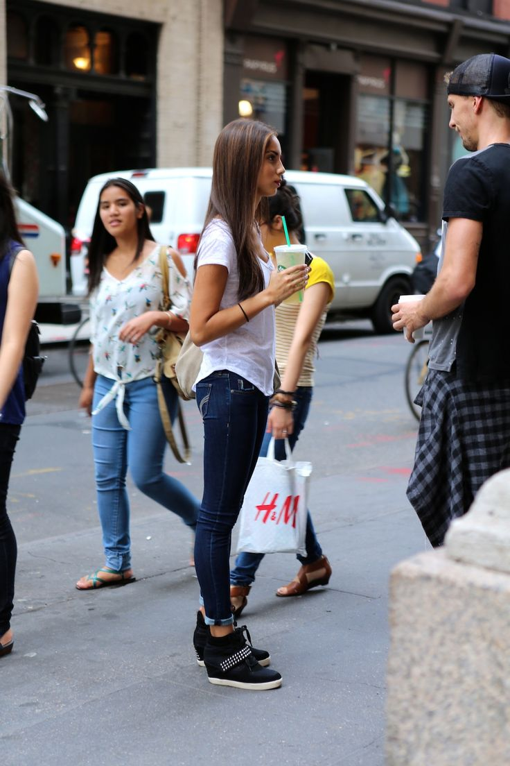How to Style Wedge Sneakers   Rocking the wedge sneaker . Not to mention that the guy on the right ...
